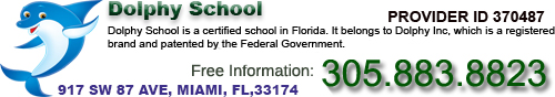 Insurance School Miami Florida. Dolphy™ School. Our Dolphin has its own name: Dolphy